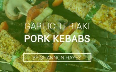 Garlic Teriaki Pork Kebabs
